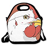Chicken Clipart Face Insulated Lunch Bag - Neoprene Lunch Bag - Large Reusable Lunch Tote Bags For Women, Teens, Girls, Kids, Baby, Adults Portable Carry