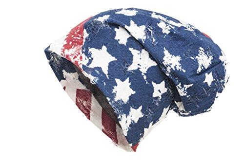 Shenky - Bonnet - styles/motifs rétro variés et insolites Motif États-Unis multicolore/vintage