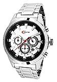Creactive Herren-Armbanduhr Chronograph Quarz Analog Edelstahl - CA120103
