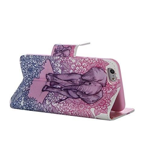 MOONCASE Étui pour Apple iPhone 5 / 5S Printing Series Coque en Cuir Portefeuille Housse de Protection à rabat Case Cover XK28 XK21 #0226