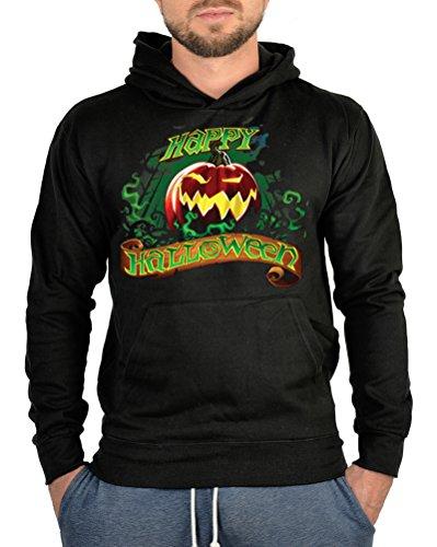 Biker Hoodie-Kapuzen-Sweater - Happy Halloween - Nacht der Langen Schatten (Halloween Kostüm Schocker Für)