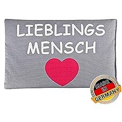 rot Leschi W/ÄRMEKISSEN lindert R/ücken Kinder und Babys//Herz gro/ß und Bauchschmerzen//f/ür Mikrowelle und Ofen//K/örnerkissen f/ür Damen