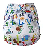 LUKZER (Pack Of 2 With 2 Liner) New Adjustable (for All Sizes) Reusable Lot Baby Washable Cloth Diaper Nappies For Babies Of Ages 0 To 2 Years, (Color May Vary) (2 Pcs)