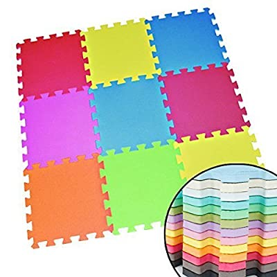 Wholesale Solutions®- 18 Tiles Eva Kids Play Flooring Foam Coloured Interlocking Activity Mats