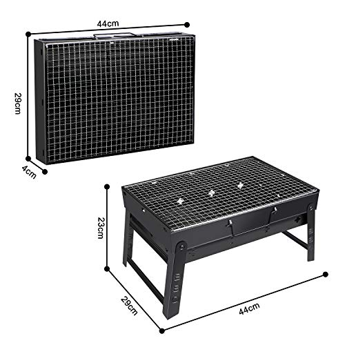 Zoom IMG-2 fixget barbecue grill carbone portatile