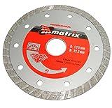 Disco diamantato diametro 125mm per smerigliatrice taglio a secco .