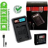 LOOKit LCD Chargeur + 1x LOOKit® Batterie BLH7 Panasonic Lumix DMC LX1 GX800