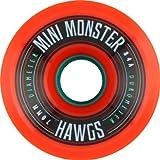Hawgs Wheels Mini Monster Orange Skateboard Wheels - 70mm 84a (Set of 4) by Hawgs Wheels
