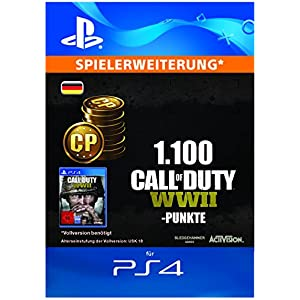 Call of Duty: WWII – 1100 Points DLC | PS4 Download Code – deutsches Konto