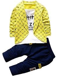 Covermason Niños Falso dos Camisa Tops y Largo Pantalones (1 conjunto) (1Años,
