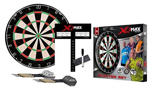 XQmax Dartscheibe Starter Set–Board–2Sets Darts–Anzeigetafel, Marker und Radiergummi