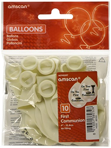Amscan 22,8cm First Communion 10-latex Luftballons (Favors First Communion Party)