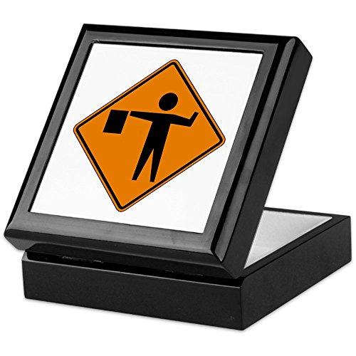 CafePress-Flagger-USA-Keepsake Box, fertig Hartholz Jewelry Box, Samt Gefüttert Memento Box schwarz
