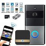 TEEPAO Sonnette Vidéo WiFi sans Fil à la Maison, Sonnette de Surveillance Antivol,...