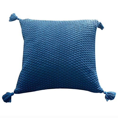 Pillow Almohada Decorativa del sofá de la Almohada del hogar (Color : Blue)