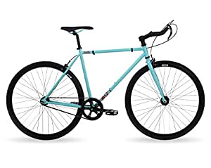 Feral Mens Dash Fixie Single Speed Bike, Ocean Blue (52cm Frame)