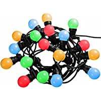 WeRChristmas Globe Festoon Big Bulb Christmas/Party/Barbeque LED Light String with 10 m Cable - Multi-Colour, Set of 20