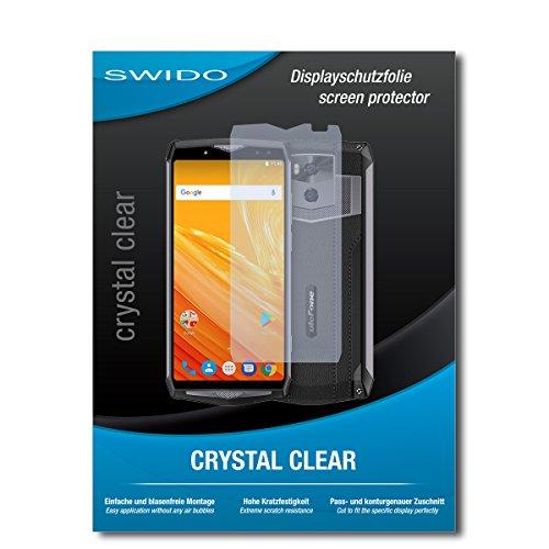 SWIDO Bildschirmschutz für Ulefone Power 5 [4 Stück] Kristall-Klar, Hoher Härtegrad, Schutz vor Öl, Staub & Kratzer/Schutzfolie, Bildschirmschutzfolie, Panzerglas Folie