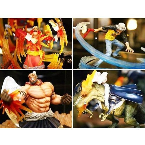 One Piece - Super Effect Figure Vol. 1 (Set of 4) (Pre-Painted Figure)