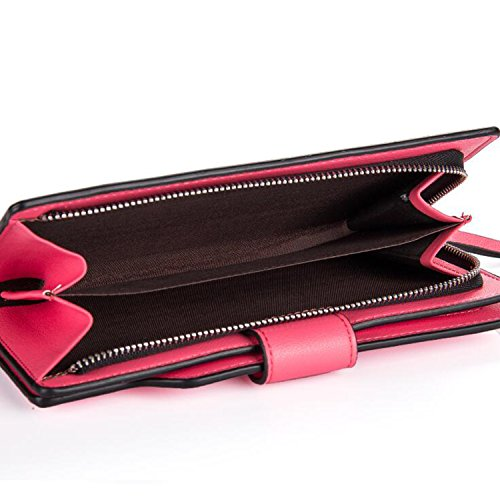 Young & Ming - Women Leather Wallet Donna Portafogli in pell con 10 Card Slots &1 Smartphone Slots & 2 Cash Posizione giallo