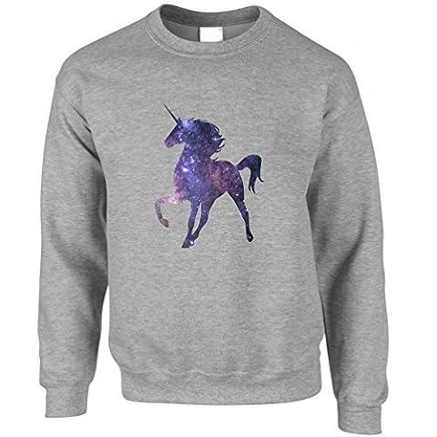 Unicorn Galaxy Stars Galactic Mythical Sparkle Rainbows Horse Horn Creature Legend Fabled Rampant Winged Slogan Unisex Sweatshirt Sweater Cool Birthday Gift