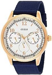 Guess Men's Cream Dial Fabric Band Watch - GUE_W08