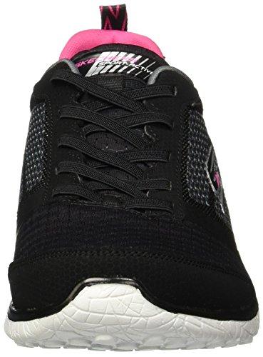 Skechers , Damen Sneaker schwarz schwarz Schwarz / Weiß