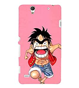 EPICCASE Angry boy Mobile Back Case Cover For Sony Xperia C4 (Designer Case)