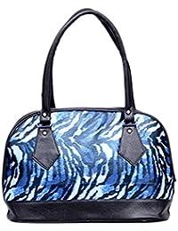 DICE Fancy Blue Colour Faux Leather Handbag Bag For Women