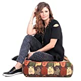#7: Style Homez Cotton Canvas Abstract Printed Square Floor Cushion Large Size with Cotton Filling