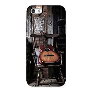 Old Guitar On Chair Back Case Cover for iPhone 5 5S