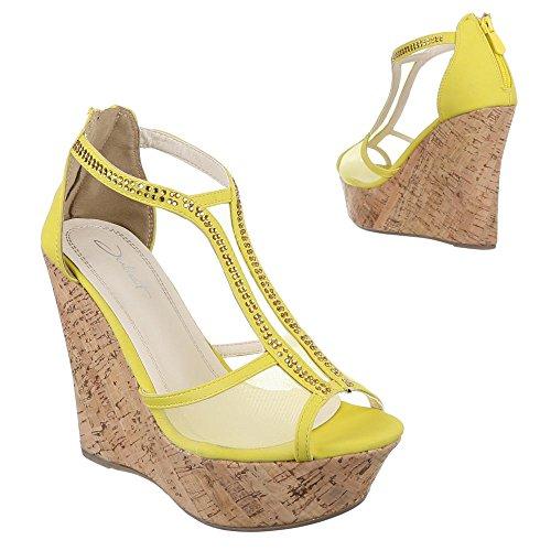 Ital-Design , Sandales femme Jaune
