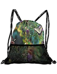 Mochila de Gimnasio para Mujer con diseño de Mariposas de Colores, Ideal para Viajes y