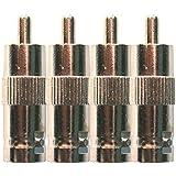 Lot de 10x BNC femelle à RCA mâle Adaptateur coaxial connecteur