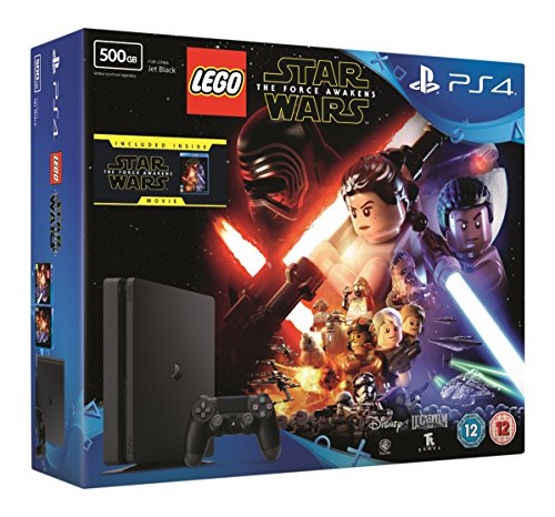 Compare Sony PlayStation 4 500GB Console with LEGO Star Wars: The Force Awakens Game + Blu-Ray Movie prices