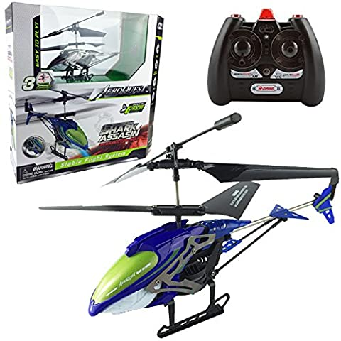 3 CHANNEL MINI INDOOR REMOTE CONTROL INFRARED HELICOPTER TRI-BAND RC KIDS TOY (BLUE)