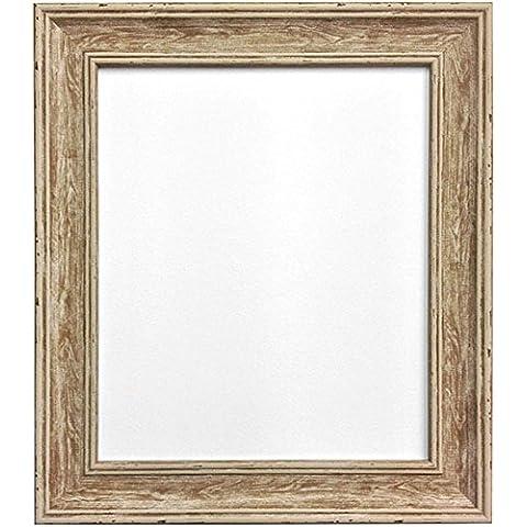 Frames By Post Cornice portafoto vintage Distressed Cornice portafoto in legno, Brown, 24