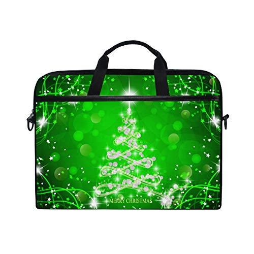 Ahomy Green Christmas Tree Multifunktionale Laptoptasche/Aktentasche / Messenger Bag/Schultertasche / Messenger Bag -