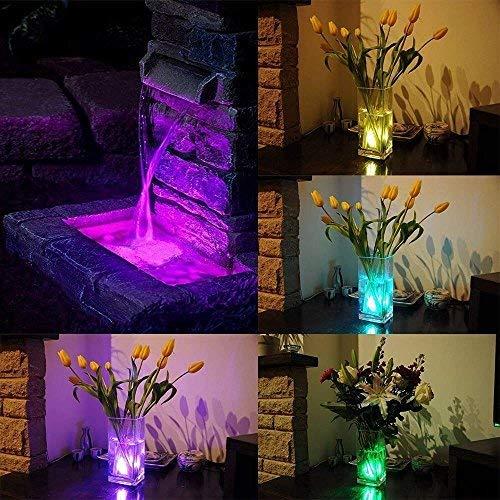 10pcs Unterwasser-LED-Lichter Wasserdichte Unterwasserlichter SMD 3528 RGB Stimmungs-Lichter für Vase, Schüsseln, Aquarium und Parteidekoration IR-Fernsteuerungs - 7