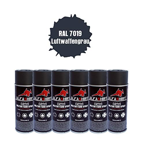 RAL 7019 Lot de 6 17640 Armes à air en Spray Gris Ardoise
