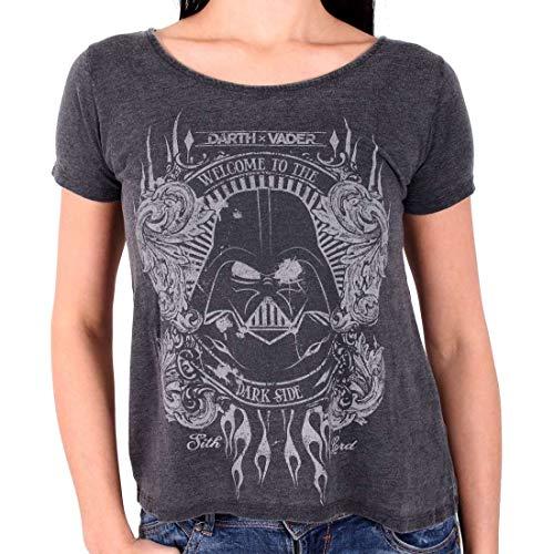 Star Wars Welcome to The Dark Side Girl-Shirt grau meliert M