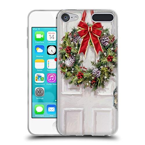 Head Case Designs Offizielle The Macneil Studio Kranz Weihnachtsdekoration Soft Gel Hülle für Apple iPod Touch 6G 6th Gen (Soft Touch Kranz)