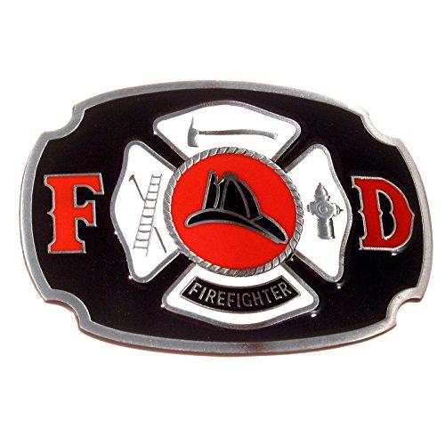 Buckle mit dem Logo der US-Feuerwehr, Firefighter, Gürtelschnalle - Firefighter Gürtelschnalle