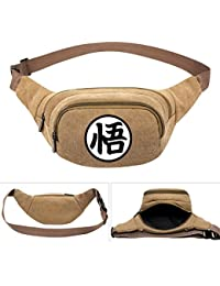Buyworld Ball Z Son Goku Anime Men's Women Canvas Waist Pack Bag Pouch Belt Travel Hip Casual Fanny Bag Money...