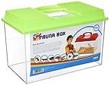 Acuario: SAVIC FAUNA BOX. También considerado como terrarios y/o tortugueras. Indicado para peces de agua fría, tropicales y marinos, tortugas y reptiles.