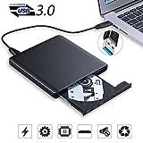 Lecteur DVD Graveur DVD, Lesoom USB Câble 3.0 Enregistreur Portable (Version 2018) Graveur Externe DVD CD Combo Ultra Slim ROM pour Ordinateurs, Macbook Pro Air, Apple, PC, Laptop, Desktops (Noir)