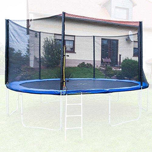 Trampolin Sicherheitsnetz Ersatznetz Schutznetz ohne Pfosten für Tampoline 4,00m für 6 Pfosten Netzhöhe 180cm Trampolin 4 Meter