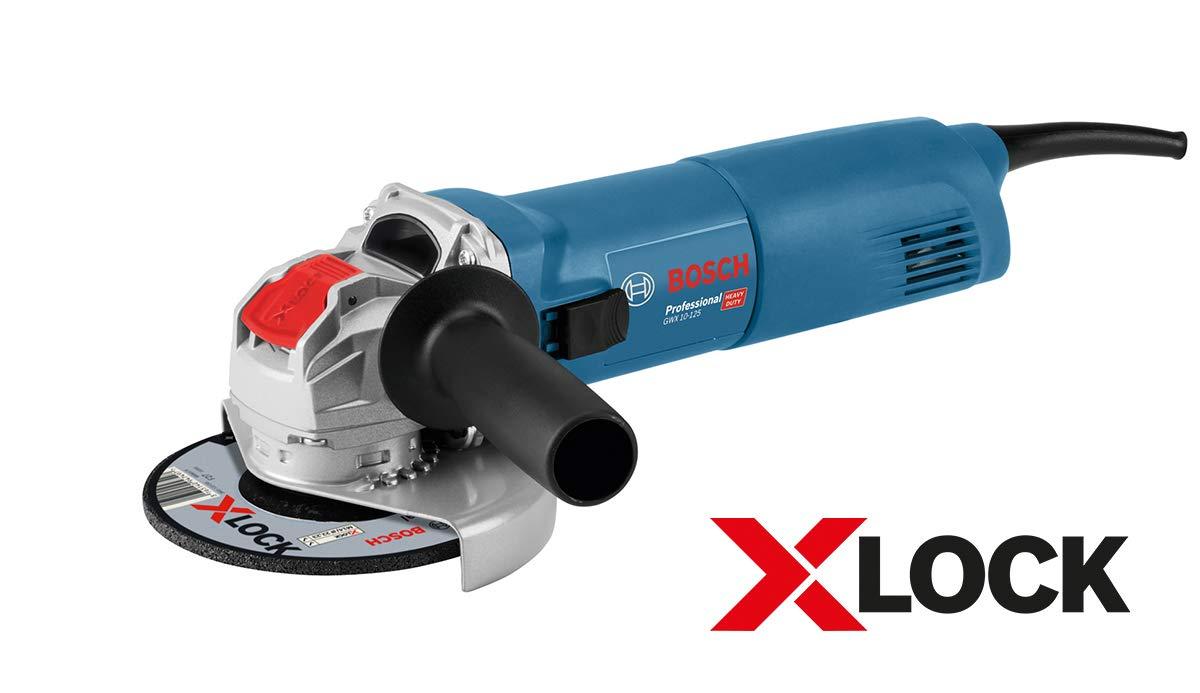 Bosch Professional GWX 10-125 X-Lock Winkelschleifer (1000 Watt, 125 mm, im Karton)