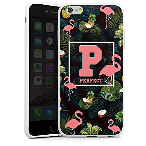 Apple iPhone X Silikon Hülle Case Schutzhülle Flamingos Perfekt dschungel Silikon Case weiß