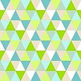 Vliestapete Dreiecke grün blau beige Everybody Bonjour 138713